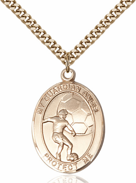 Guardian Angel Soccer Sports 14kt Gold-Filled Pendant Necklace by Bliss