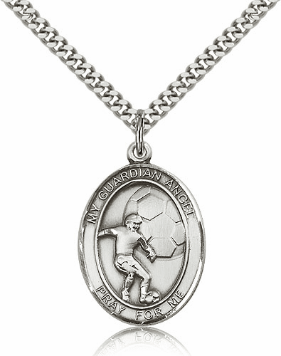 Bliss Guardian Angel Soccer Sterling Silver Pendant