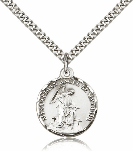 Guardian Angel Sterling Silver Pendant Necklace by Bliss