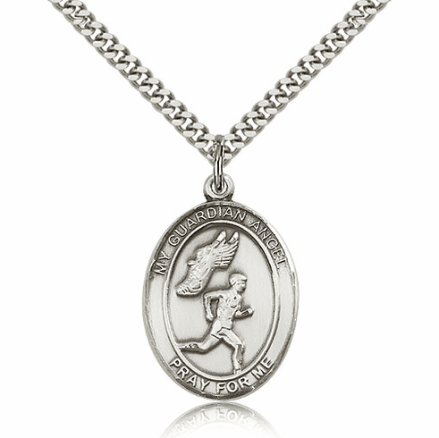 Bliss Guardian Angel Track & Field Sterling Silver Sports Necklace