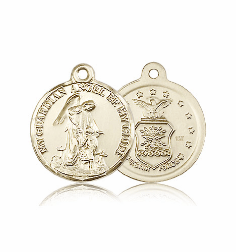 Guardian Angel US Air Force 14kt Gold Medal by Bliss