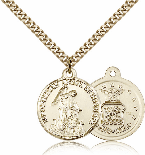 Guardian Angel US Air Force Gold Filled Pendant Necklace by Bliss