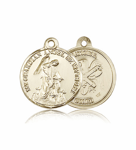 Guardian Angel US National Guard 14kt Gold Medal by Bliss