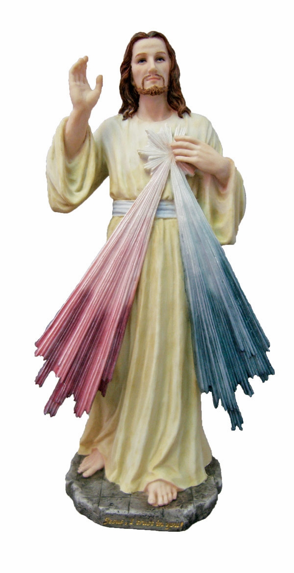 Hand-Painted Jesus Divine Mercy Figurine by Veronese Collection