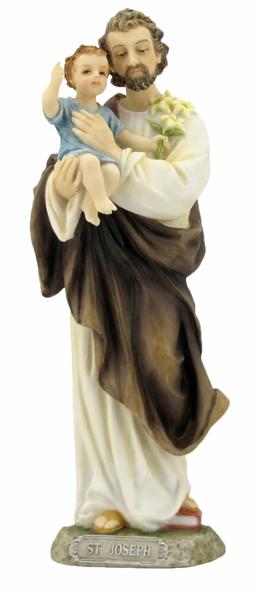 Hand-Painted Joseph and Jesus Figurine by Veronese Collection