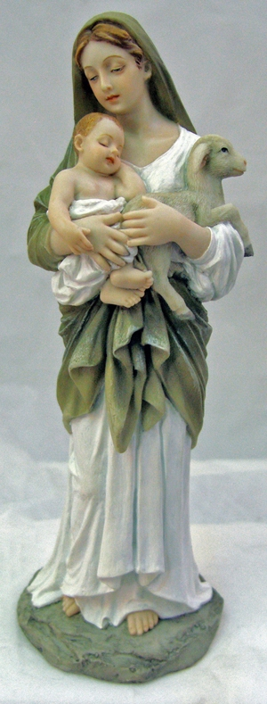 Hand-Painted L'Innocence Mary and Jesus Figurine by Veronese Collection