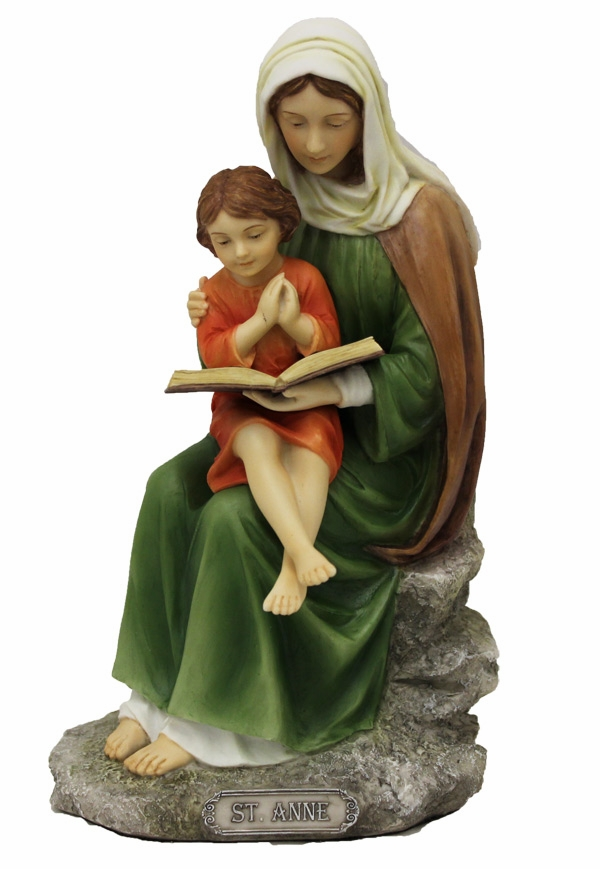 Hand-Painted Mary and Jesus Reading Figurine by Veronese Collection
