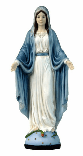 Hand-Painted Our Lady of Grace Religious Figurine by Veronese Collection