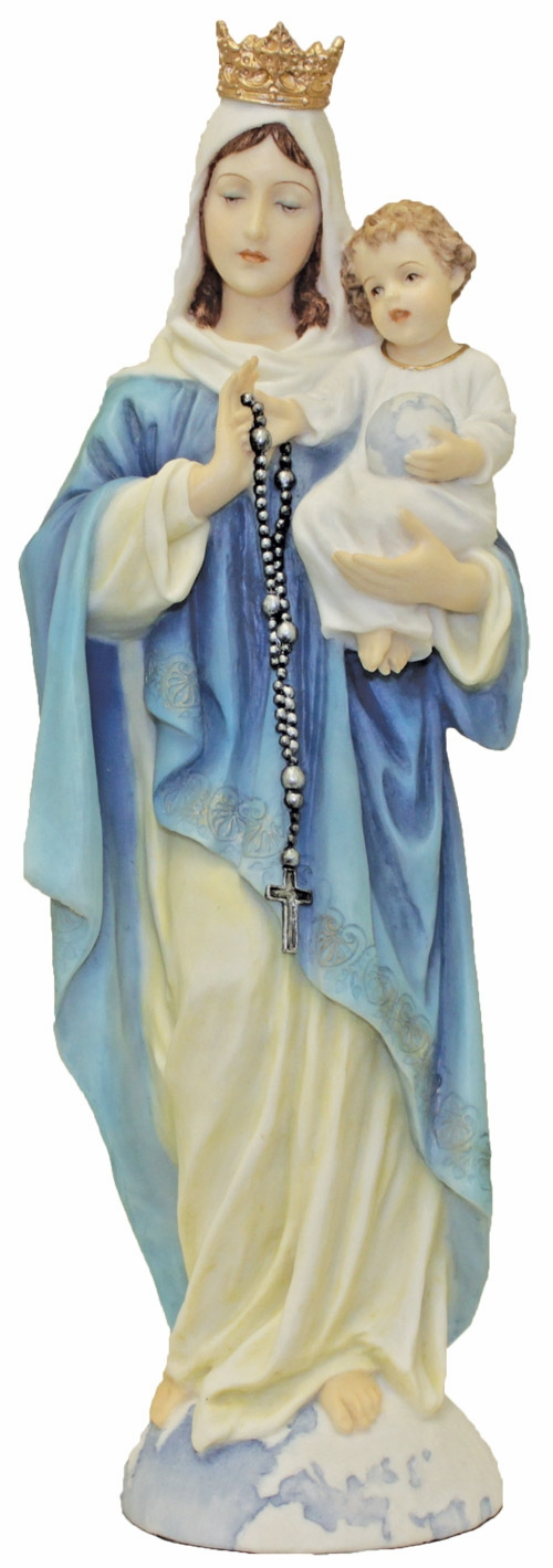 Hand-Painted Our Lady of the Rosary Figurine by Veronese Collection