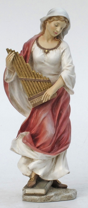Hand-Painted St Cecilia Figurine by Veronese Collection