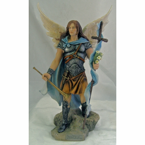 Hand-Painted St Michael w/Horn and Cross Figurine by Veronese Collection