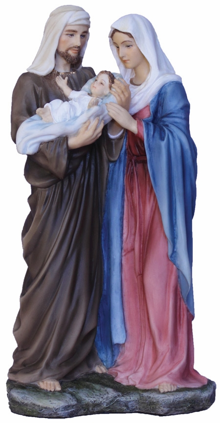 Hand-Painted Standing Holy Family Religious Figurine by Veronese Collection