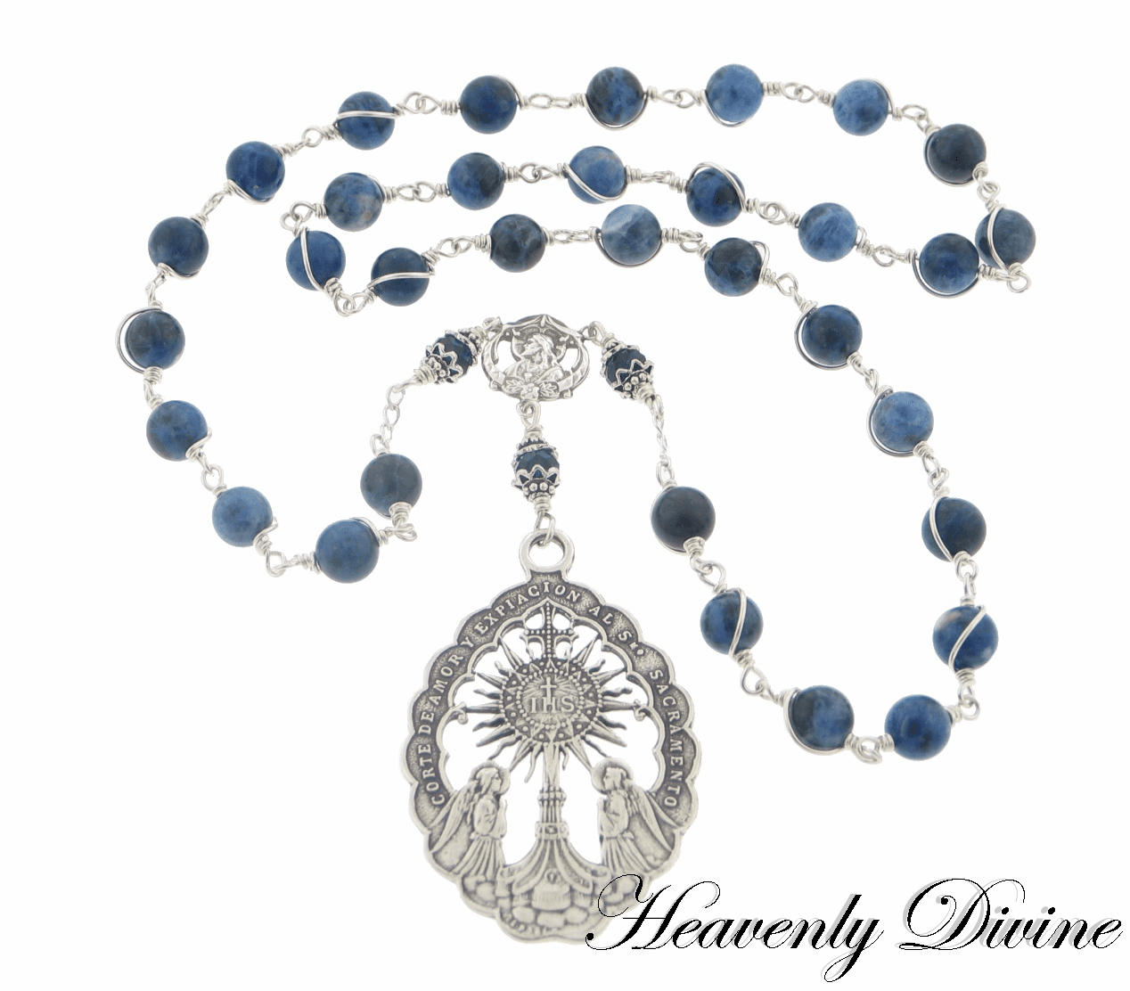 Handmade Beads of the Blessed Sacrament Chaplet by Heavenly Divine