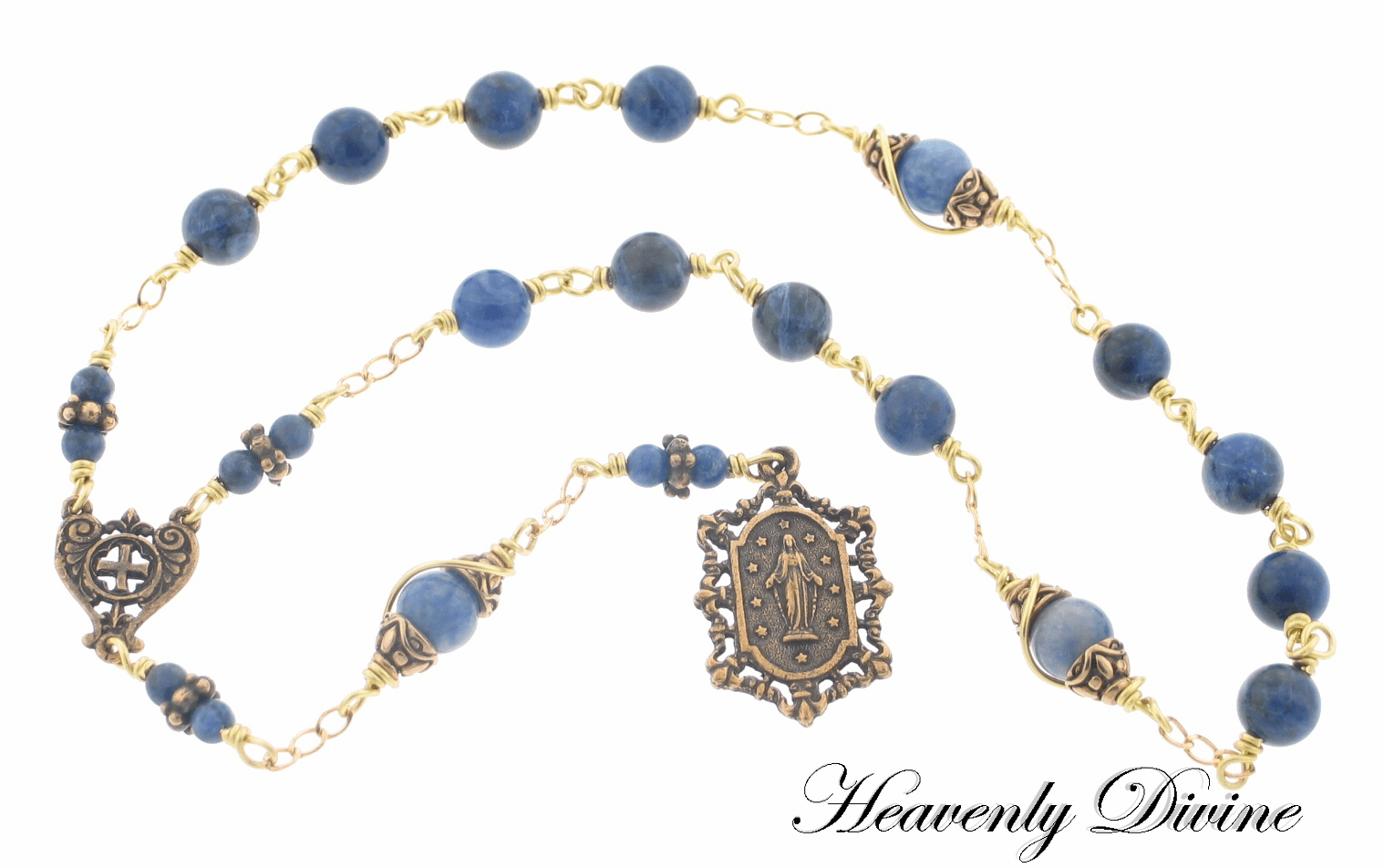 Handmade Beads of the Immaculate Conception Chaplet by Heavenly Divine