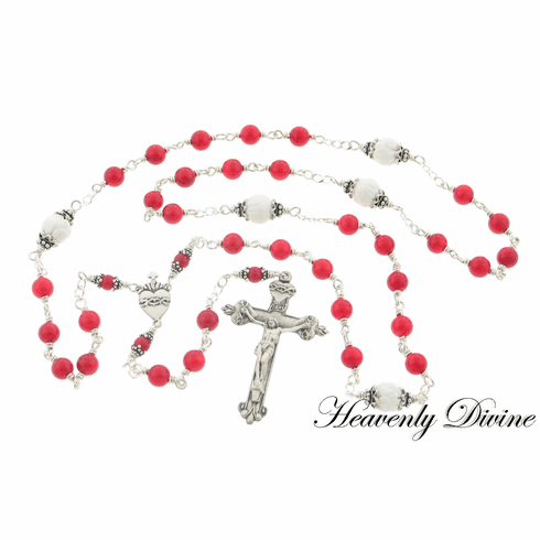 Handmade Beads of the Sacred Heart Chaplet by Heavenly Divine