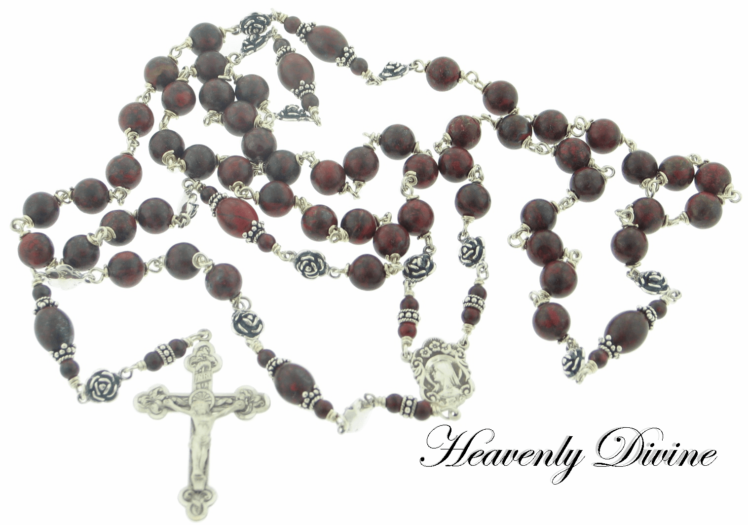 Handmade Brecciated Jasper and Sterling Silver Wire Wrapped by Heavenly Divine