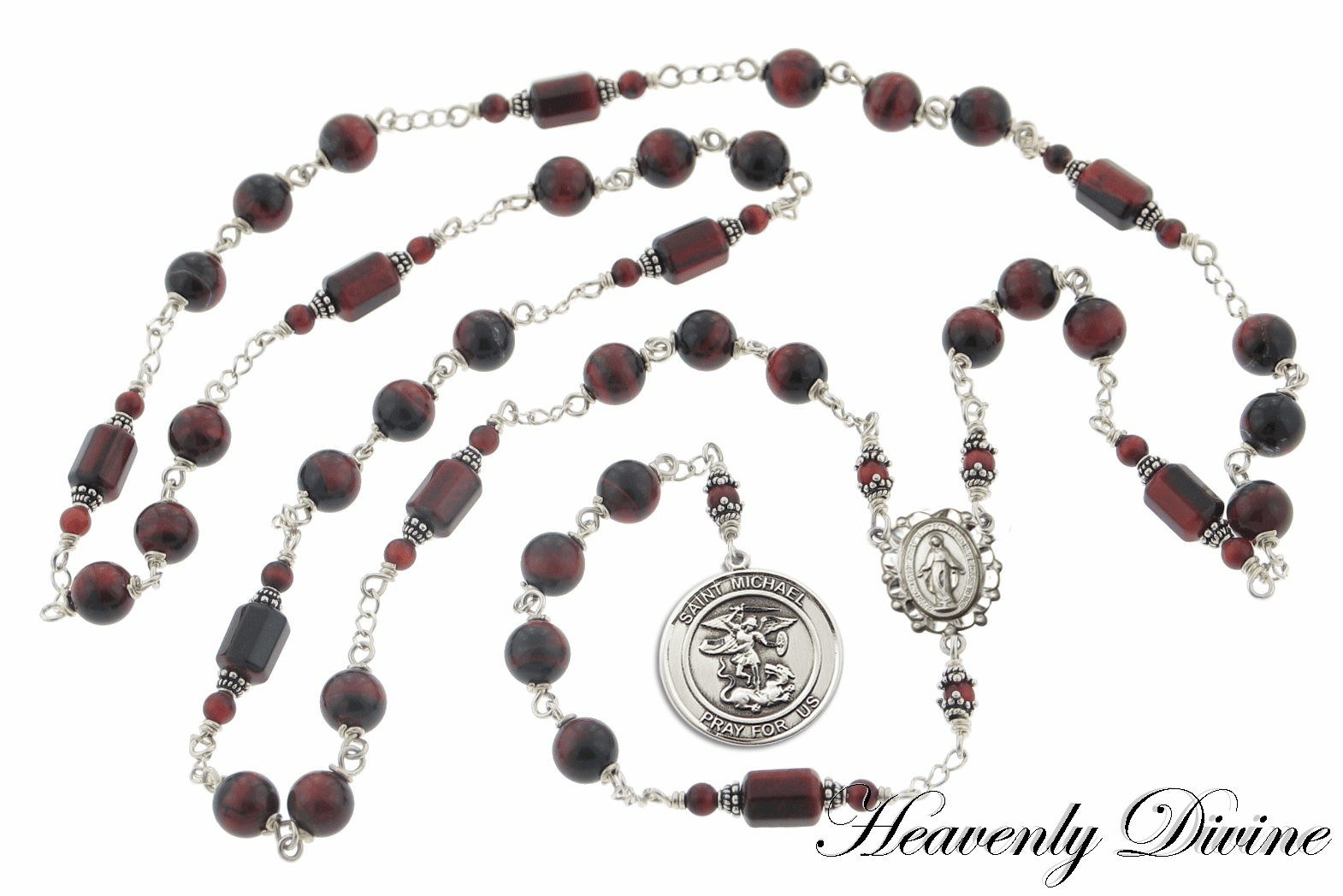 Handmade Chaplet of St. Michael the Archangel - Angelic Crown by Heavenly Divine