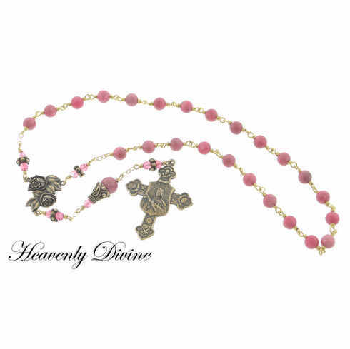 Handmade Chaplet of St. Therese the Little Flower Rosary by Heavenly Divine