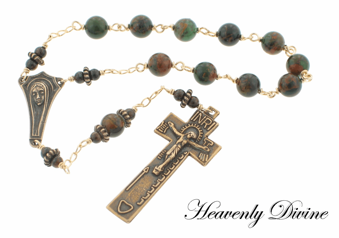 Handmade Irish Penal One-Decade Rosary by Heavenly Divine