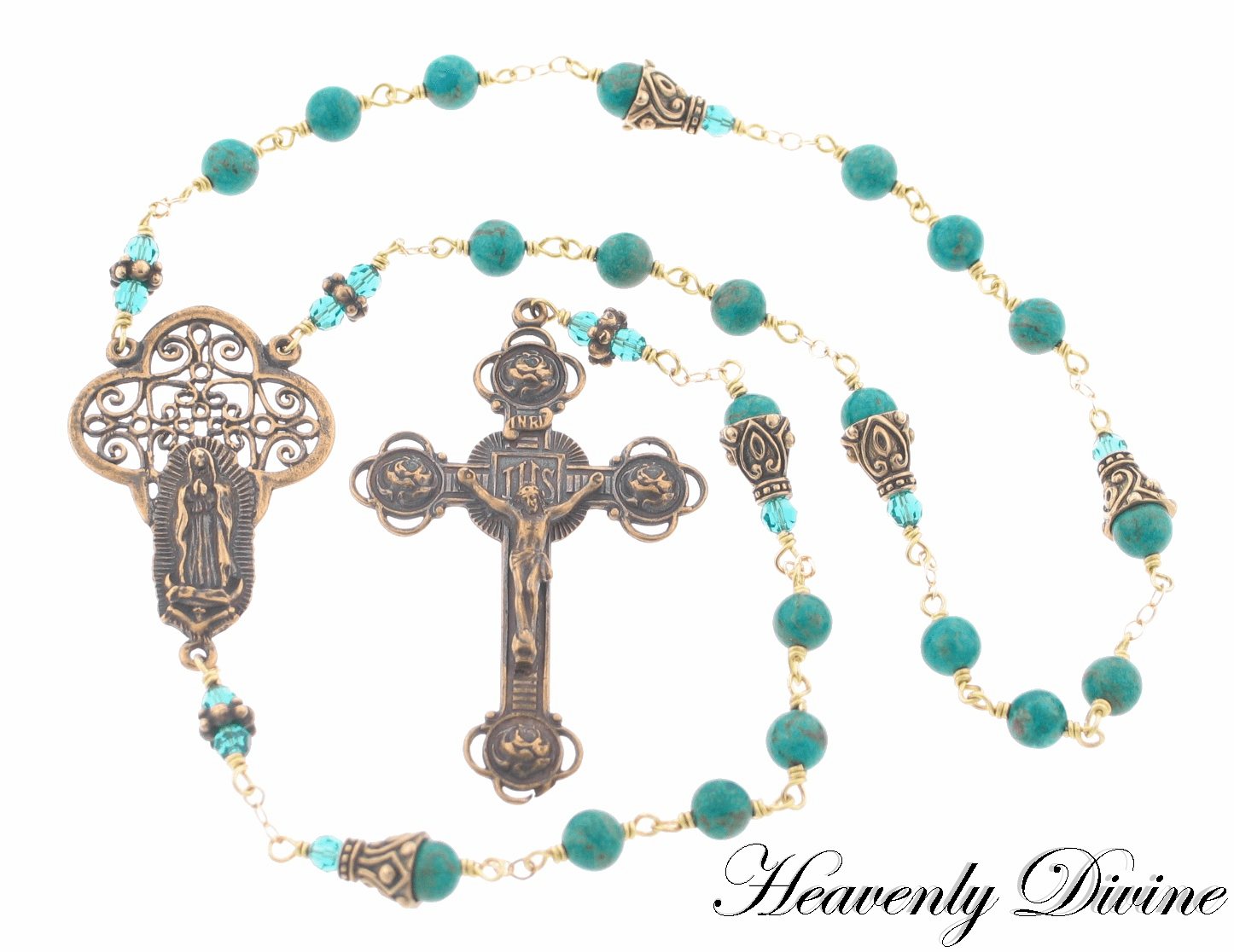 Handmade Our Lady of Guadalupe Chaplet by Heavenly Divine