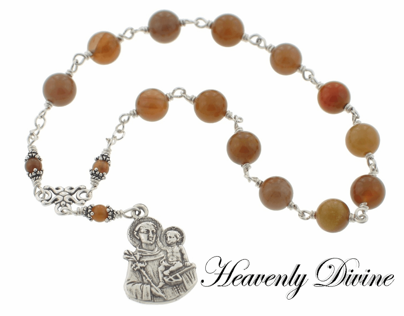 Handmade Saint Anthony of Padua Chaplet by Heavenly Divine