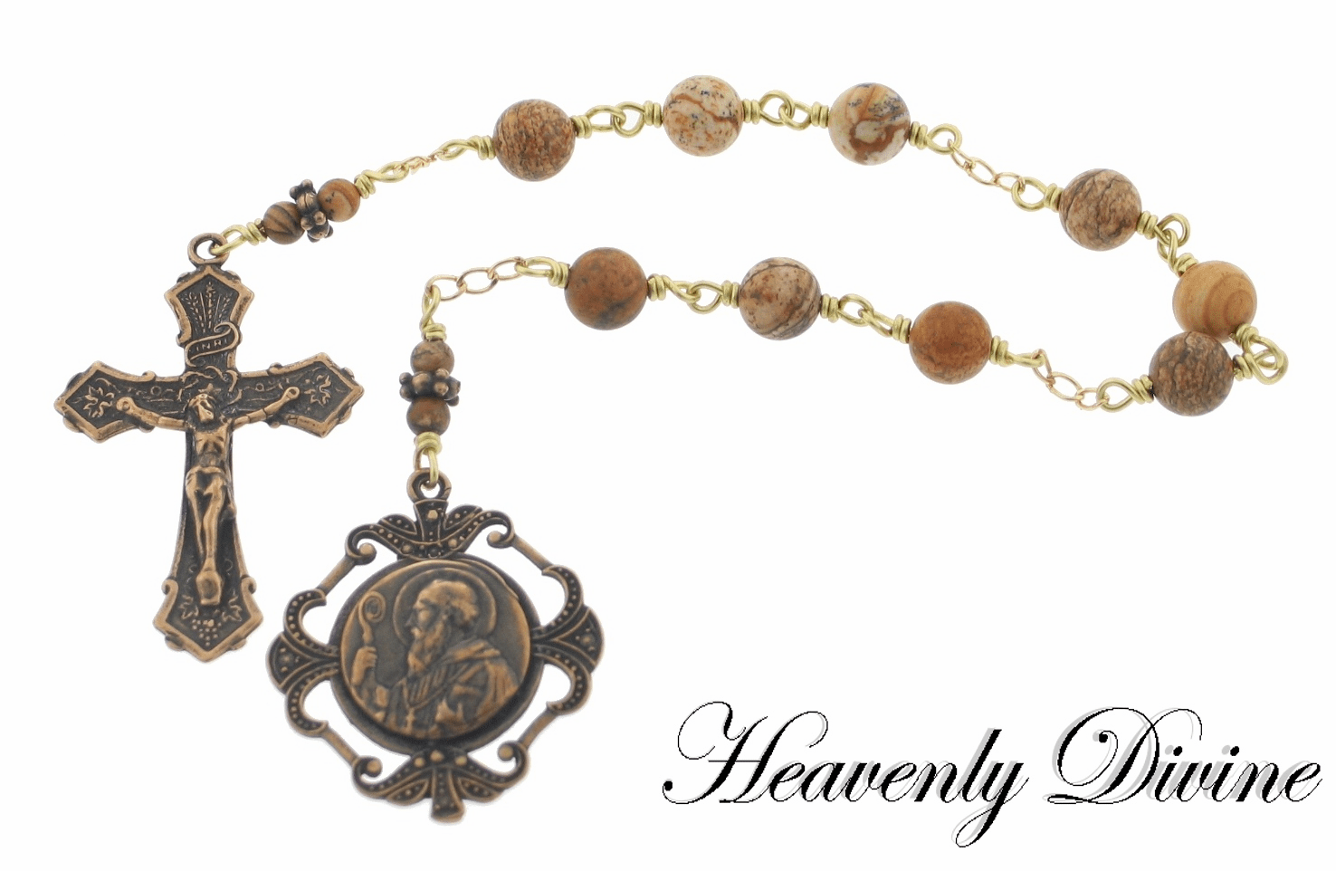 Handmade Saint Benedict Chaplet by Heavenly Divine