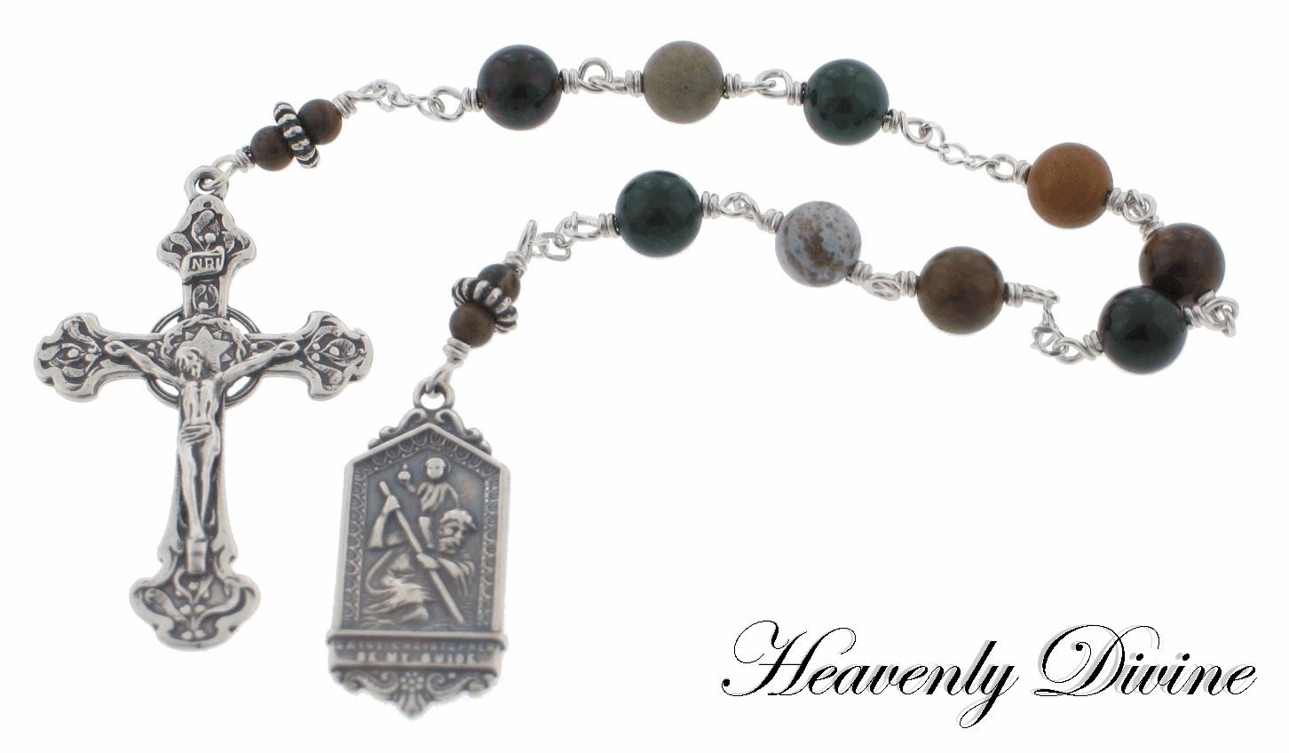 Handmade Saint Christopher Chaplet by Heavenly Divine