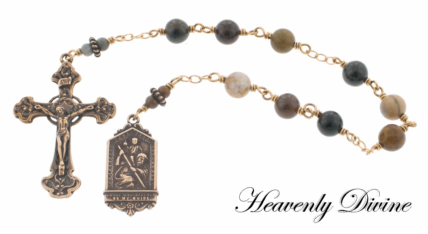 Handmade Saint Christopher Prayer Chaplet by Heavenly Divine