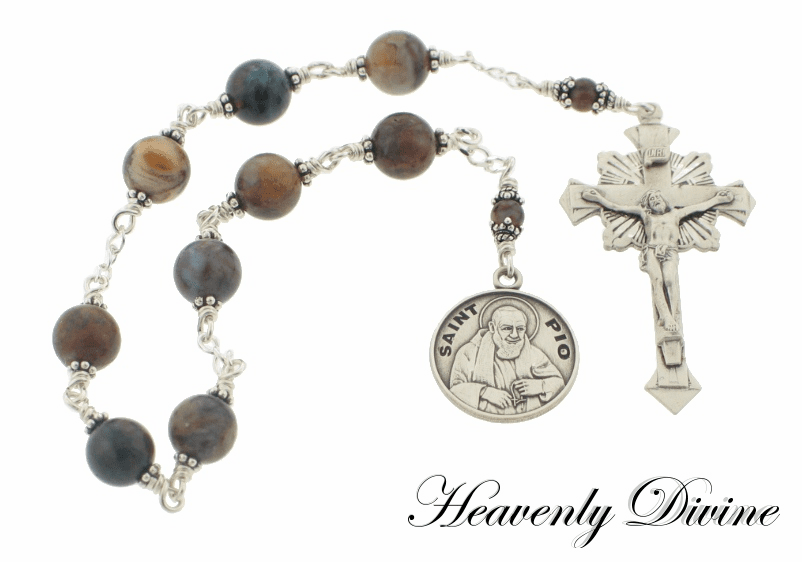 Handmade Saint Padre Pio Chaplet by Heavenly Divine