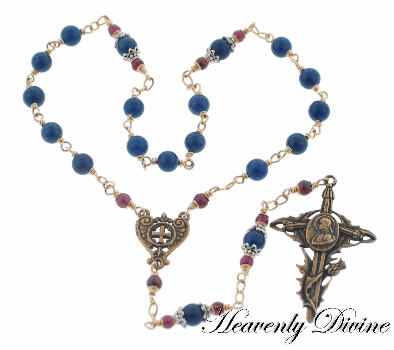 Handmade Wire-Wrapped Saint Joan of Arc Chaplet by Heavenly Divine