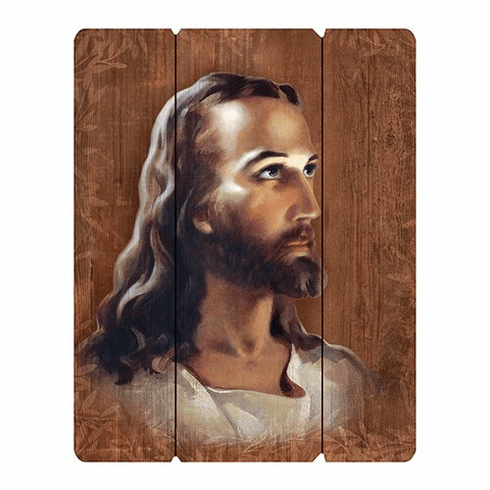 Head of Christ Wood Pallet Sign by Gerffert