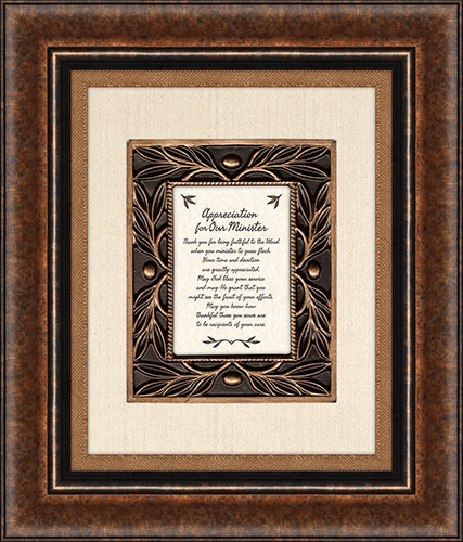 Heartfelt Appreciation For Our Minister I Timothy 1:12 Framed Wall Art Picture