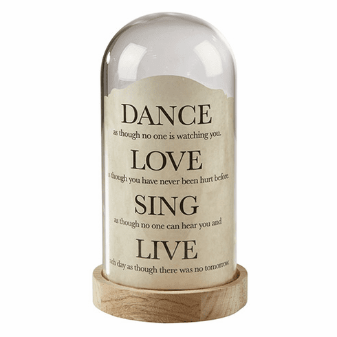Heartfelt Dance, Love, Sing Dome Light Tabletop