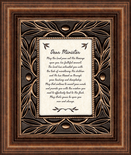 Heartfelt Dear Minister Framed Wall Art Picture