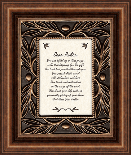 Heartfelt Dear Pastor Framed Wall Art Picture