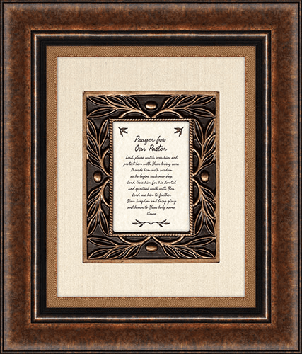 Heartfelt For Pastor w/Prayer For Our Father Framed Wall Art Picture
