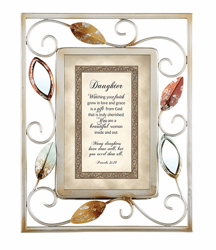 Heartfelt Heartwarming Expressions Daughter - Proverbs 31:29 Tabletop Picture
