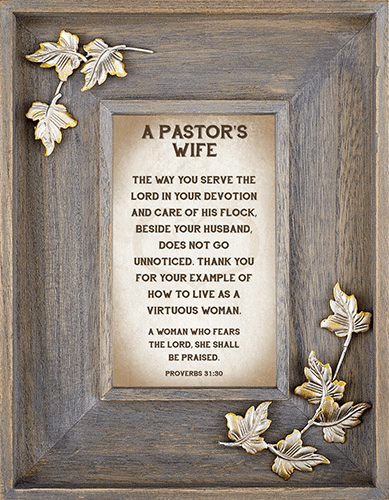 Heartfelt LoveLea Down Home Pastor's Wife Framed Wall Art Picture