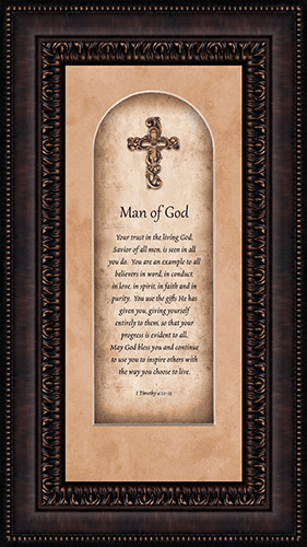 Heartfelt Pastor Appreciation Man of God Framed Wall Art Picture