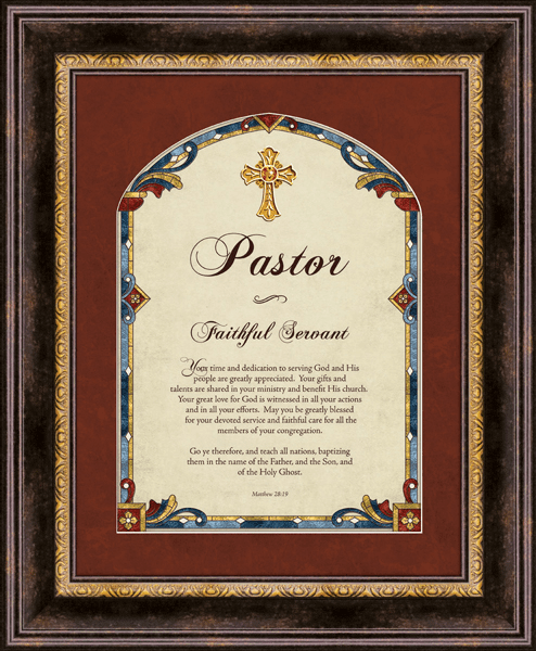 Heartfelt Pastor Matthew 28:19 Framed Wall Art Picture
