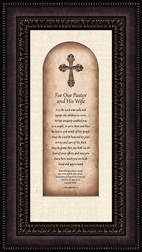 Heartfelt Pastor & Pastor's Wife Framed Wall Art Picture