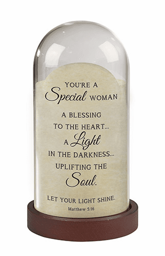 Heartfelt Special Woman Matthew 5:16 Dome Light Tabletop