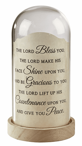 Heartfelt The Lord Bless You Numbers Dome Light Tabletop
