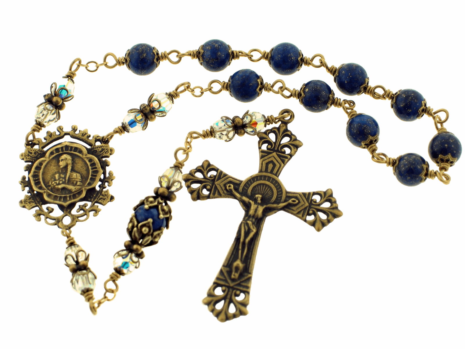 Heavenly Divine Bronze One Decade Pocket Rosaries