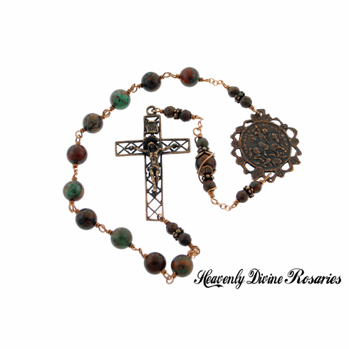 Heavenly Divine St George with the Dragon Kant-Tangle Pocket Rosary