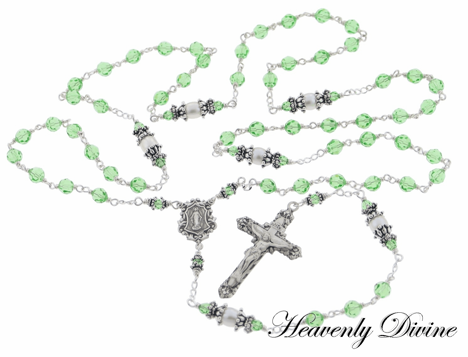 Heavenly Divine Swarovski Crystal Rosaries