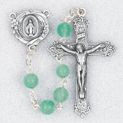 Hirten 6mm Adventurine Round Gemstone Bead Prayer Rosary