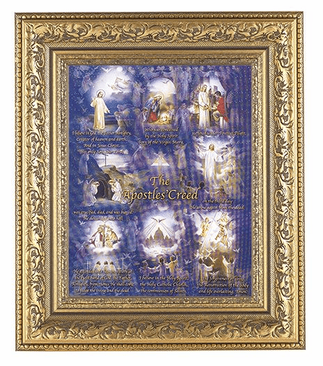 Hirten Apostles Creed Detailed Ornate Gold Leaf Antique Framed Picture