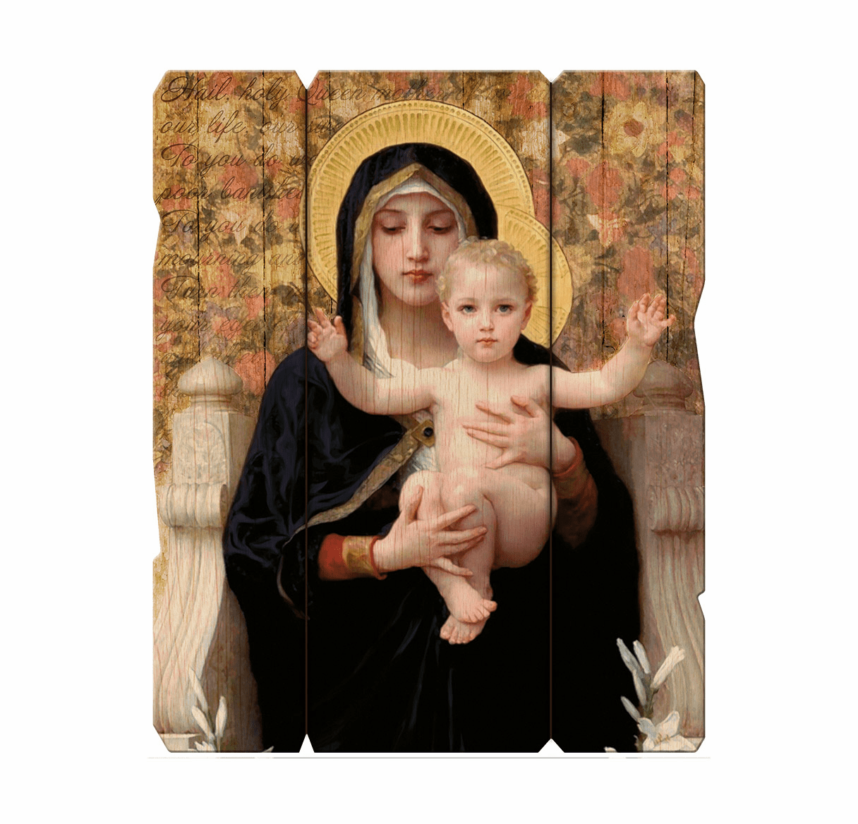 Hirten Bouguereau Madonna and Child Vintage Wall Plaque