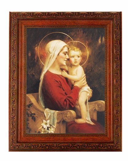 Hirten Chambers Madonna and Child Ornate Mahogany Framed Picture